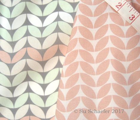 Classic knit, wedding peach on white by Su_G