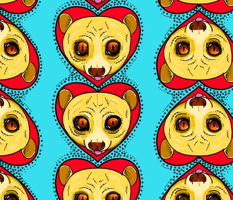 A lot 'o potto love fabric by beesocks on Spoonflower - custom fabric