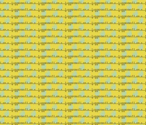 I am a Juggernaut - Ochre & Robin's Egg Blue fabric by oinkoinkorchid on Spoonflower - custom fabric