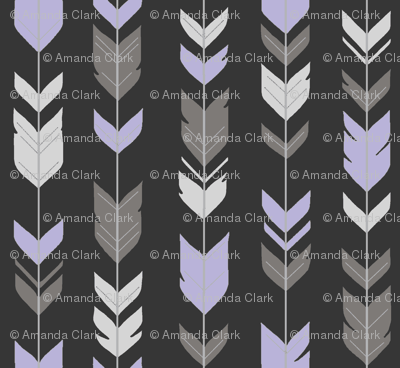 Arrow Feathers -  Black, lilac, silver