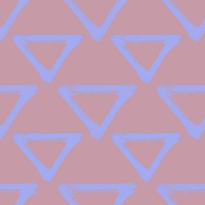 Triangular Repeat - Periwinkle & Mauve