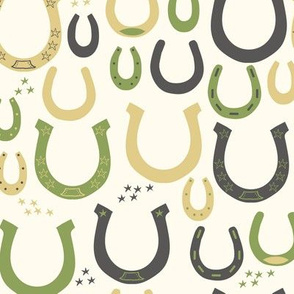 Lucky Horseshoes (green)
