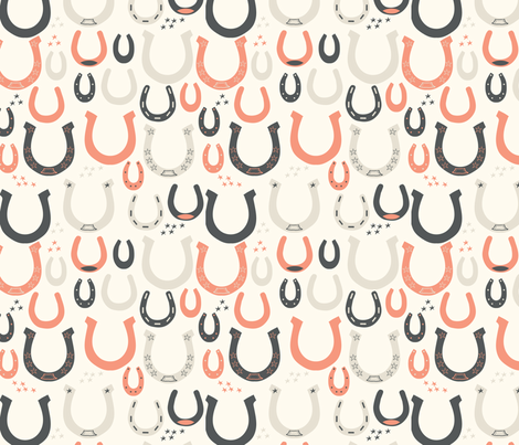 Lucky Horseshoes fabric by sarah_price on Spoonflower - custom fabric