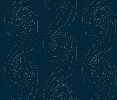 Indigo Wave Swirls fabric by crafty_bug_lady on Spoonflower - custom fabric