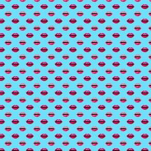 lips mini micro print valentines kisses beauty lipstick fabric