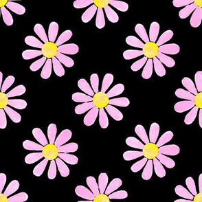 Daisy_watercolour_pastel_pink_on_black