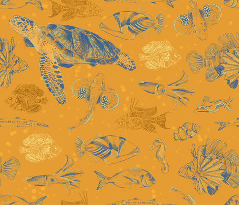 AquaticAnimals fabric by edrouga on Spoonflower - custom fabric