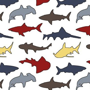 Colorful Sharks // Small