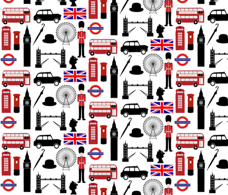 London fabric by thinlinetextiles on Spoonflower - custom fabric