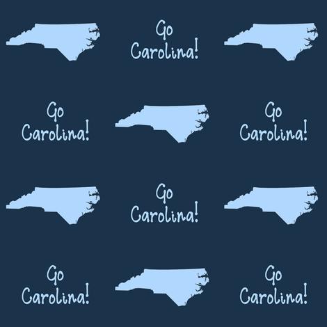 Go Carolina fabric by thinlinetextiles on Spoonflower - custom fabric