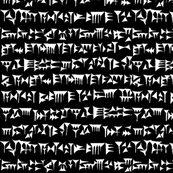 Babylonian Cuneiform //  Black