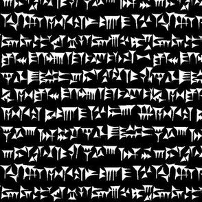 Babylonian Cuneiform on Black // Small