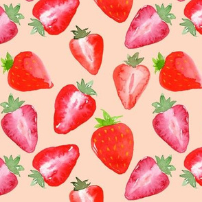 Strawberries_Red_Watercolour_on_blush