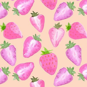 Strawberries_Watercolour_pink_hue_on_blush