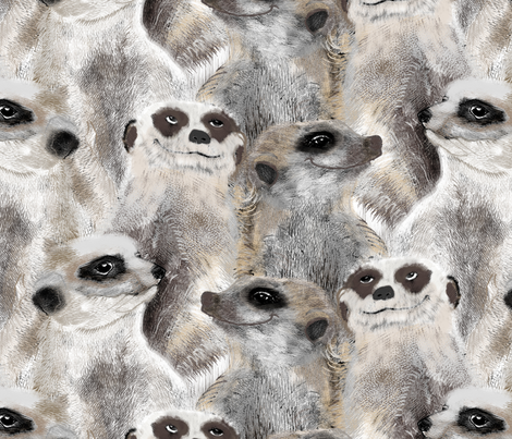 Furry Meerkats regular fabric by susiprint on Spoonflower - custom fabric
