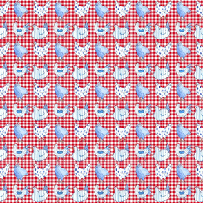 Chicken Red Gingham