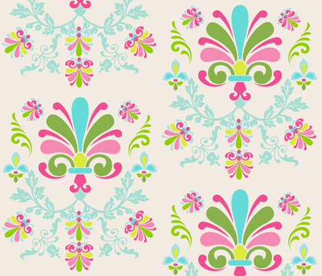Essence 10- Spring mint Cream fabric by drapestudio on Spoonflower - custom fabric