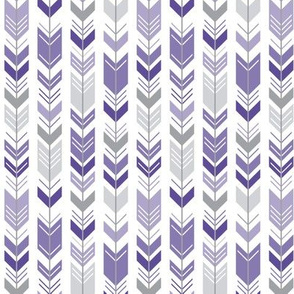 herringbone arrows purple