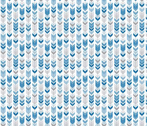 herringbone arrows royal blue fabric by misstiina on Spoonflower - custom fabric