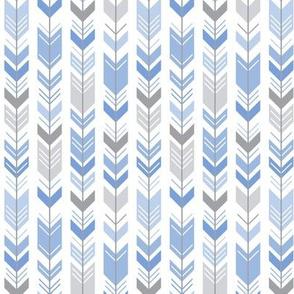 herringbone arrows cornflower blue