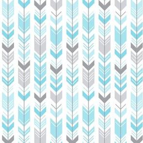 herringbone arrows sky blue