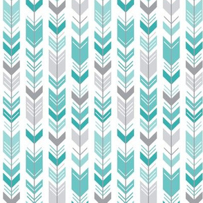 herringbone arrows teal