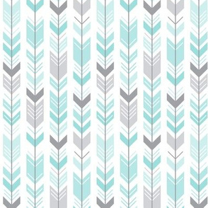 herringbone arrows light teal