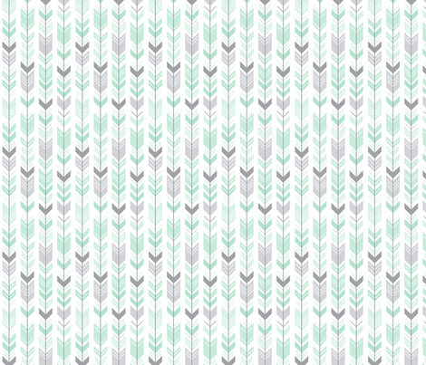 herringbone arrows mint green fabric by misstiina on Spoonflower - custom fabric