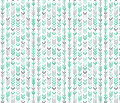 herringbone arrows sea foam green fabric by misstiina on Spoonflower - custom fabric