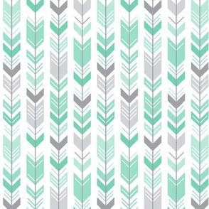 herringbone arrows sea foam green