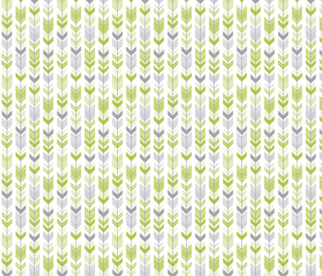 herringbone arrows lime green fabric by misstiina on Spoonflower - custom fabric