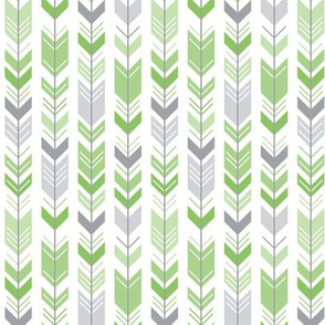 herringbone arrows apple green