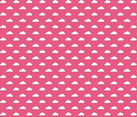 Modbaby_tinycloudshp_white_on_pantone_hot_pink_shop_preview
