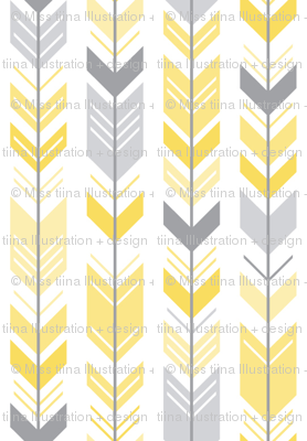 herringbone arrows butter yellow