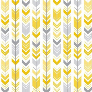 herringbone arrows mustard yellow