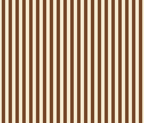 stripes chocolate + winter white fabric by misstiina on Spoonflower - custom fabric