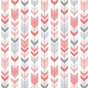 herringbone arrows coral