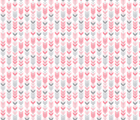 herringbone arrows pretty pink fabric by misstiina on Spoonflower - custom fabric