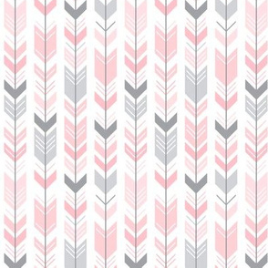herringbone arrows light pink