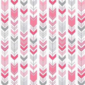 herringbone arrows hot pink
