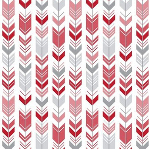 herringbone arrows red