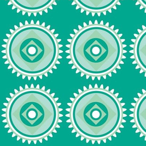 green diamond circle