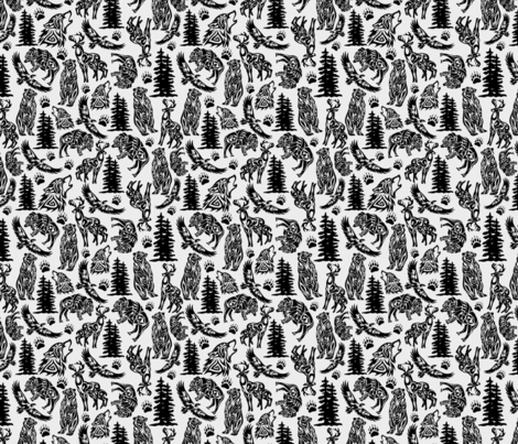 Mountain Animals fabric by michelle_price_designs on Spoonflower - custom fabric