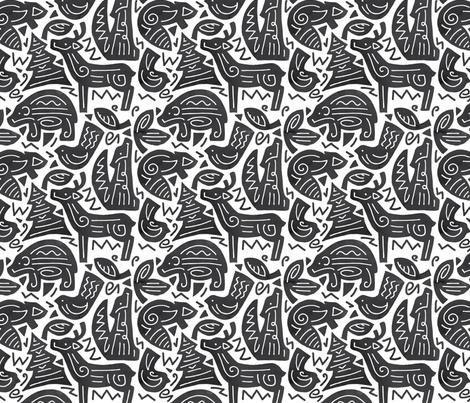Mountains fabric by jeanna_casper on Spoonflower - custom fabric