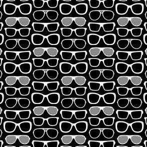 sunglasses xsm reversed » black + white no.2
