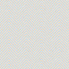 herringbone blue peach