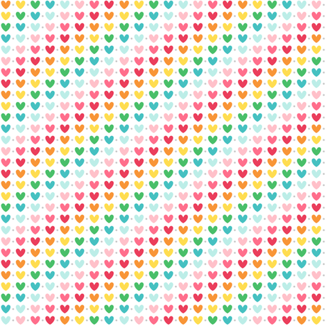 live free : love life hearts xsm + lighter fabric by misstiina on Spoonflower - custom fabric