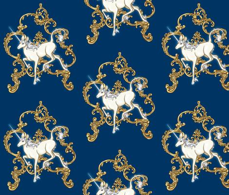 Rococo Unicorn fabric by fimmy on Spoonflower - custom fabric
