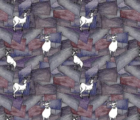 Rock Blocks and Mountain Goats fabric by jpweaver on Spoonflower - custom fabric