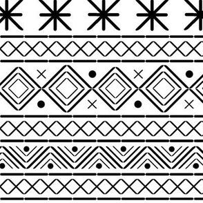 Monochrome winter // autumn holiday Christmas xmas geometric black and white